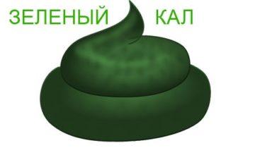 Кал зеленого цвета-7 причин появления.